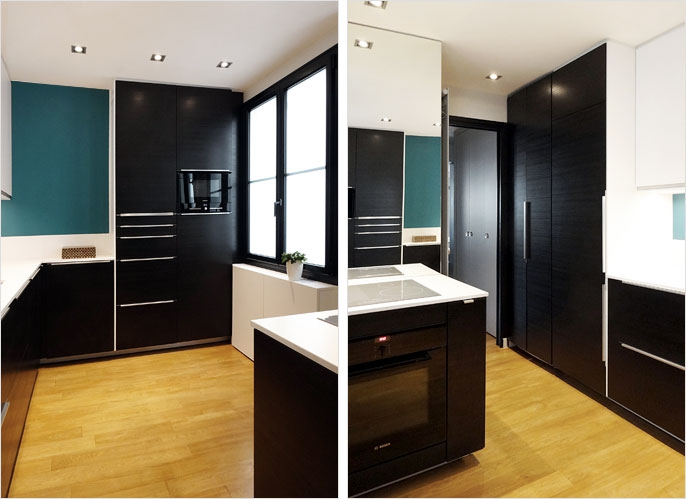 r novation d 39 un appartement paris courcelles architecte. Black Bedroom Furniture Sets. Home Design Ideas